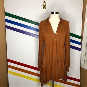 Free people linen blend tunic top/dress